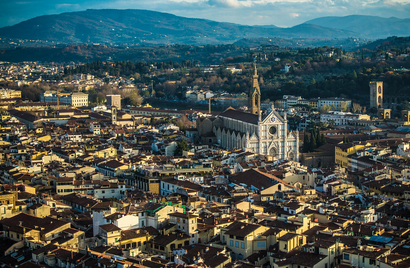 View from The Duomo, Florence, Italy