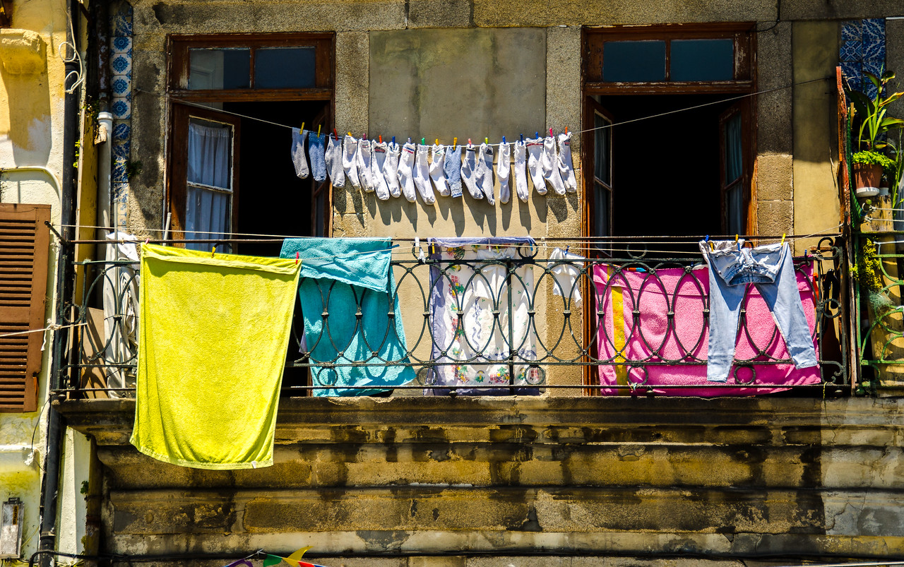 Laundry Day, Oporto, Portugal