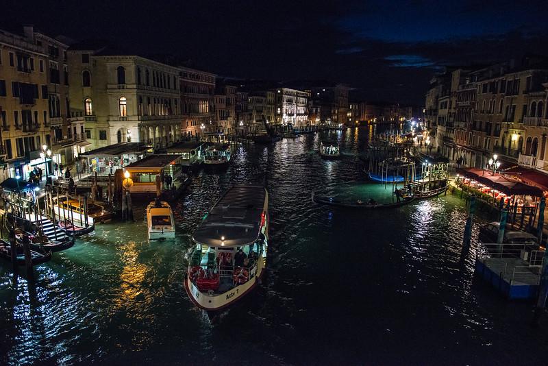 Canal at Night, Venice, Italy