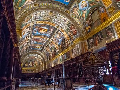Library, El Escorial Palace, Spain