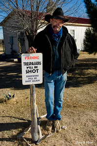 Frank Slater is foreman of the Battle Ax Ranch near Jal, NM.
