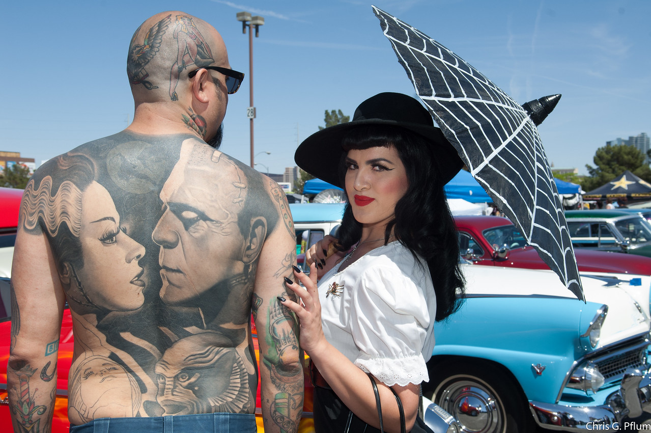 Rockabilly Car Show at the Orleans Casino, LV.  I think that the people are far more interesting than the cars. - 2017