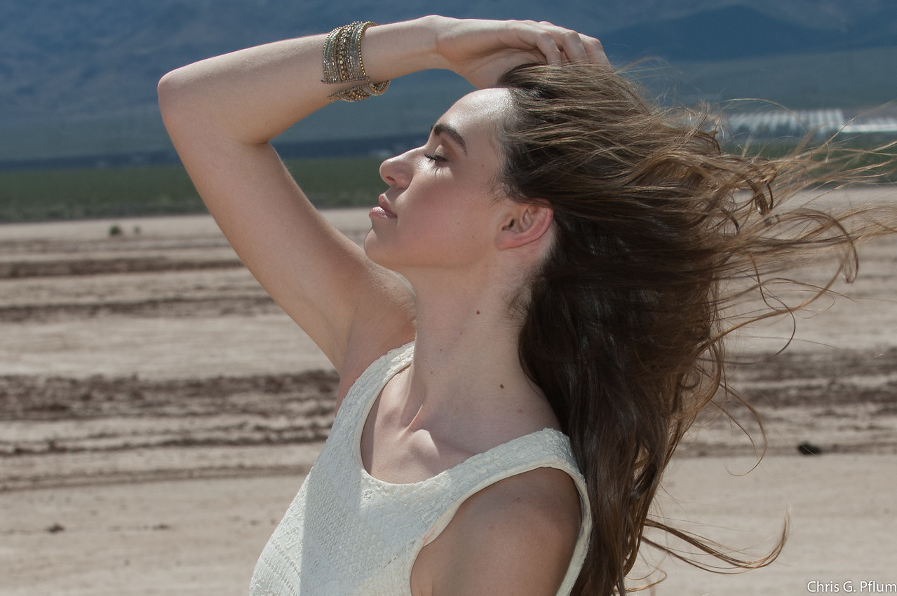 Photo Shoots -  Harsh Lighting Photography - Photos shot at 2:00 pm on a salt flat located near Hoover Dam.  Temperature was 103.