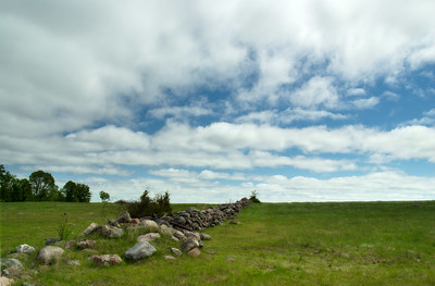 An old rock fence.