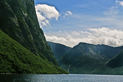 Gros Morne National  Park. Its amazing how high these are. Makes you wonder how far down it goes.