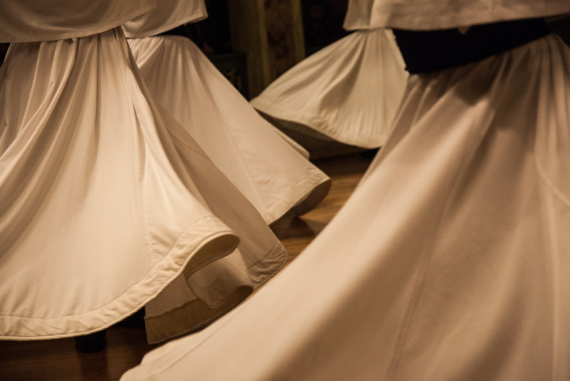 Whirling skirts, Istanbul, Turkey