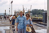 Me and Ruth at the Miraflores locks on the Panama Canal.