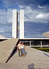 Me and Ruth Congess Towers Brasilia Brazil.