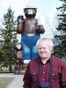 Me beside Smokey the bear in International Falls Minnesota.<br /> Latitude=48.60310(N) Longitude=93.40854(S)