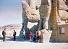 At the lions gate Persepolis Iran 1966.