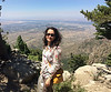 Maryam on the Sandia Crest trail.