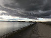We took a little walk on the Lake Lowell dam near Nampa yesterday. There was a dramatic arc of clouds running east-west over the dam. Before leaving the house I staged a little mental debate. Should I take my big boy DSLR cameras or should I restrain myself and only carry my phone? Mali gets annoyed when I stop to snap pictures on our walks. She sees our outings as exercise sessions and an opportunity to coach her lazy,  (tanball in  Farsi), husband.  I opted to only carry the phone and regretted it when  I saw the weather.  Clouds are like snowflakes. No two in the history of the cosmos are ever identical.
