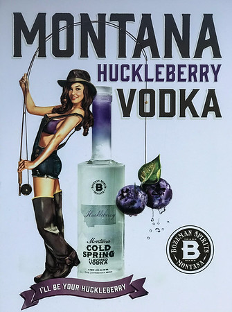 We were over in Bozeman the last few days taking care of some family business. After dinner, I spotted this delightful politically incorrect, SJW triggering, sexist Vodka Ad. Yet another reason to love Montana. My wife is currently listening to the first Democratic clown car debate. I'm pretty sure the driveling idiocy would go down better with a half dozen shots of this huckleberry.