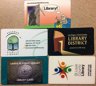 I have a new hobby: collecting library cards. Currently, I have five valid library cards. It's one of the perks of frequent moves. For the most part, the US is a decaying Hildabeast, Trumpkin, and social justice warrior infested dystopian hellscape but public libraries are bucking the apocalyptic trend. All of these public systems are good to excellent. In the last ten years, I have been favorably impressed by US public libraries all over the country. Even microscopic small towns like Bluffton Indiana have excellent public libraries. In fact, tiny little Bluffton's public library was better than any public library in Ottawa Canada which is a national capital and should have but doesn't excellent public libraries. Perhaps Hell has superb libraries which begs the question is eternal damnation really all that bad for readers?