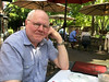 Me enjoying diner on the patio of a nice Eagle riverside restaurant that we discovered via a coupon from our real-estate agent.