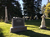 I'm a sidelight sucker. I couldn't resist the late afternoon light on these graves.