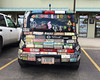 Put enough bumper stickers on your car and you create a mobile art exhibit.