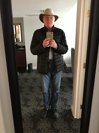 Overdressed for Portland.