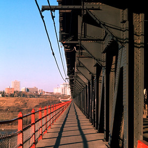 Edmonton's High-Level Bridge from the western side. I walked across this bridge every day during my last year at the University of Alberta.  Occasionally I would think about jumping over the side but I've always wanted to see what comes next.
