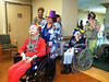 Yesterday the residents dressed up for Mardi Gras and paraded around in costumes and pimped out wheelchairs.