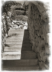 Stone Stairway and Arch