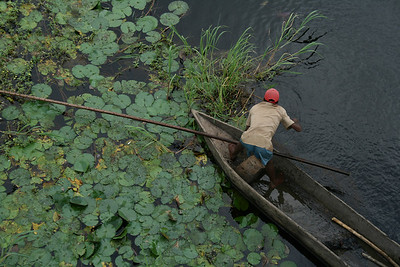 Man fishing in the Nyong River, Cameroon