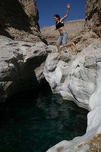 Wadi exploring, Oman.