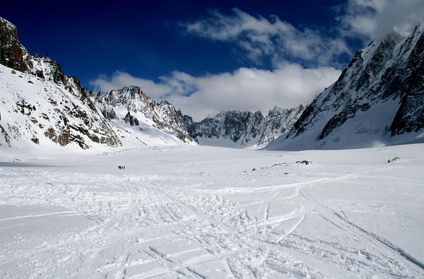 Glacier below Les Grands Montets