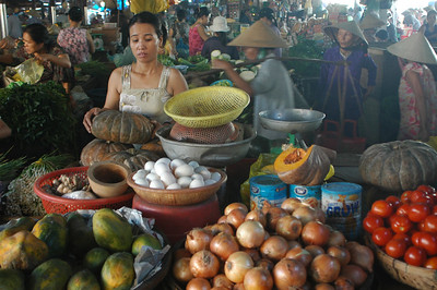 Morning market, Hoi An, Vietnam.