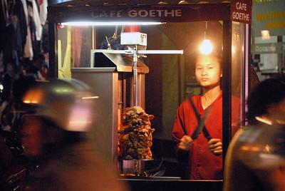 Mobile kitchen, old town Hanoi, Vietnam.