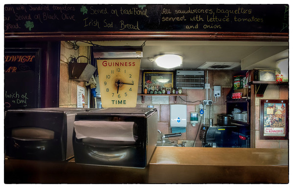 Food counter, Dublin, Ireland.