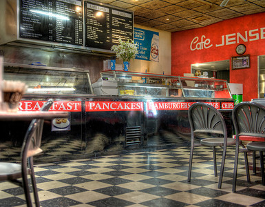 Cafe at Central Market, Adelaide, Australia.