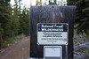 Pasayten, Horseshoe Basin - Wilderness boundary sign at Iron Gate trailhead