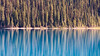 Yoho, Emerald - Abstract of shoreline with trees reflected in lake