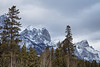 Canmore, Town - Storm clouds gathering above the East End of Rundle