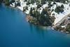 Rainier, Tolmie - Shoreline of Eunice Lake viewed from above, telephoto