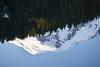 Rainier, Mowich - Summit of Mt. Rainier reflecting in Mowich Lake