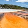 Yellowstone, Landscape - Rainbow colored pools around Grand Prismatic