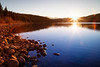 Jasper, Patricia Lake - Sunset on a clear day on the lake