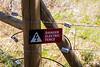 Kittitas, Teanaway - Danger Electric Fence sign