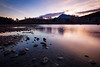 North Bend, Rattlesnake - View of sunrise from lakeshore