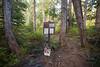 Rainier, Grand Park - Park boundary on Lake Eleanor trail