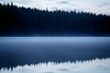Banff, Two Jack - Sloping hillside reflected in lake