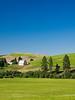 Palouse, Farm - Farm in a green field on a blue day