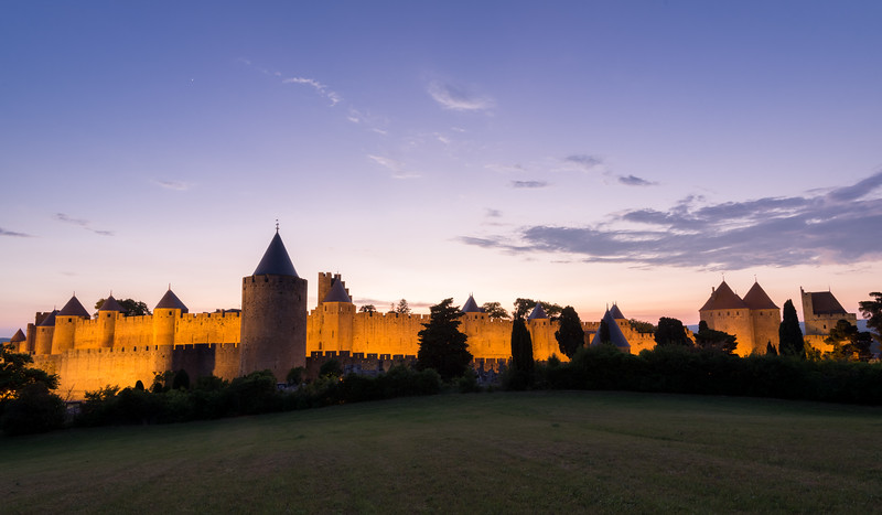 Evening in Carcassonne, France