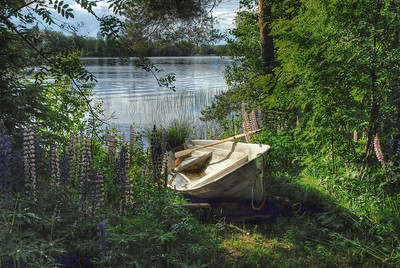 On the lake outside Varkaus, Finland - HDR.