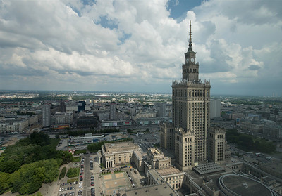 Palace of Culture and Science, Warsaw, Poland.