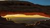 Sun up Mesa Arch
