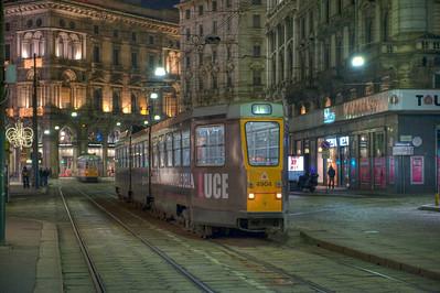 HDR: Milan, Italy tram.