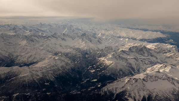 The Alps between Switzerland and Italy.
